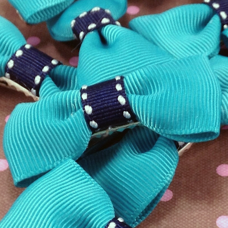 Bold Striped Mini Bow