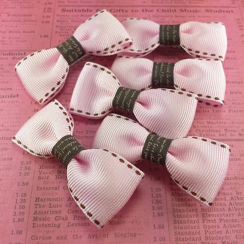 Light Pink Mini Bow, Hair Accessories - www.thestoneflower.com