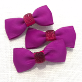 Square Glitter Mini Bow, Hair Accessories - www.thestoneflower.com
