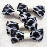 Black Leopard Print Mini Bow, Hair Accessories - www.thestoneflower.com