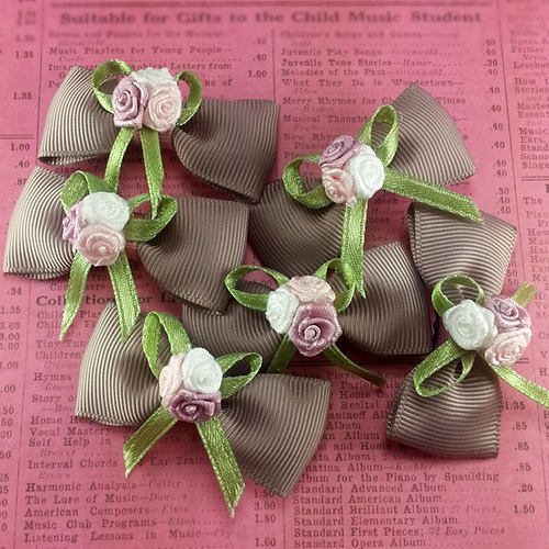 Pretty Roses Mini Bow, Hair Accessories - www.thestoneflower.com
