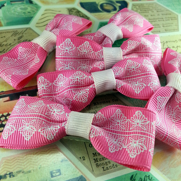 Pink Mini Bow, Hair Accessories - www.thestoneflower.com