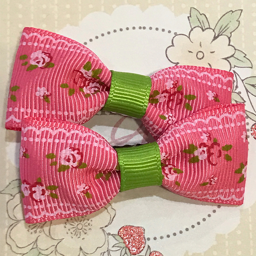 Blooming Flower Mini Bow, Hair Accessories - www.thestoneflower.com