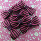 Bold Striped Mini Bow, Hair Accessories - www.thestoneflower.com
