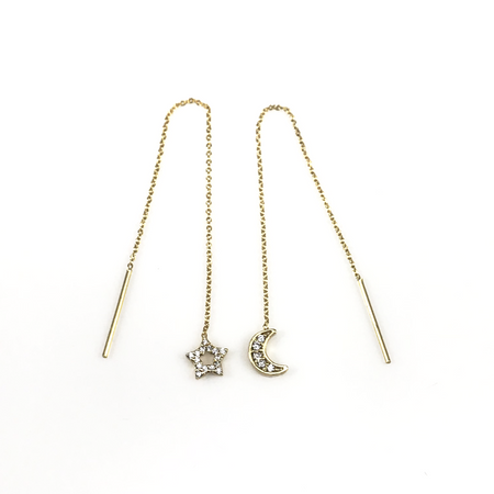 Dancing Bar Linear Chain Drop Earrings