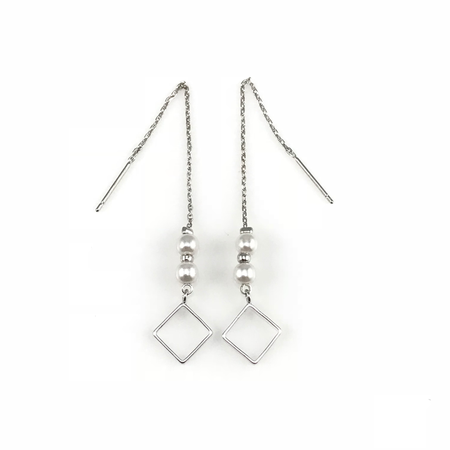 Crystal Linear Chain Drop Earrings