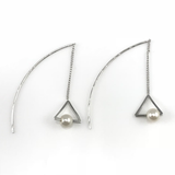 Triangle Linear Drop Earrings, Earrings - www.thestoneflower.com