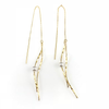 Dancing Bar Linear Chain Drop Earrings, Earrings - www.thestoneflower.com