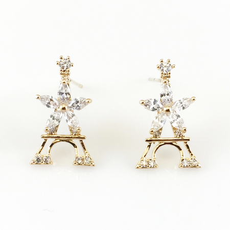 Crown Post Earrings