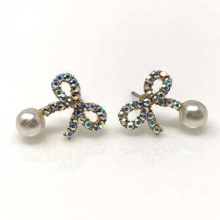 Pearl Flower Post Earrings