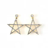 Cubic Star Post Earring, Earrings - www.thestoneflower.com