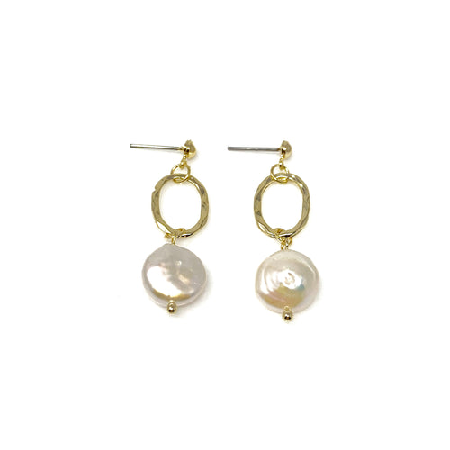 Faux Pearl Post Earrings, Earrings - www.thestoneflower.com