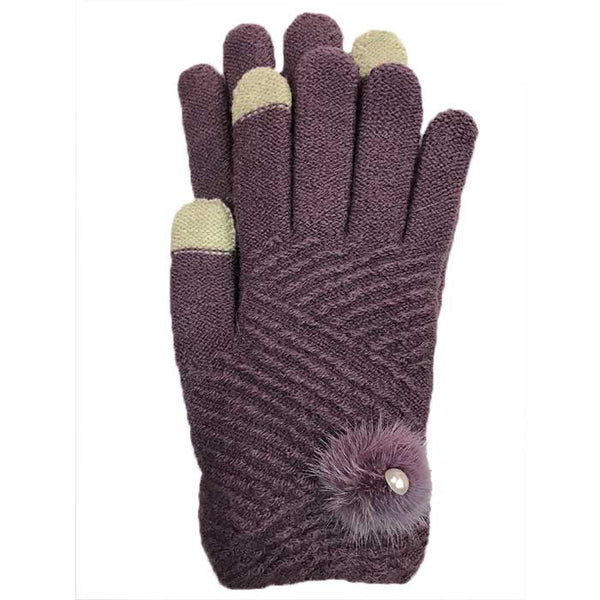 Cute Touchscreen Knitted Gloves, Clothing - www.thestoneflower.com