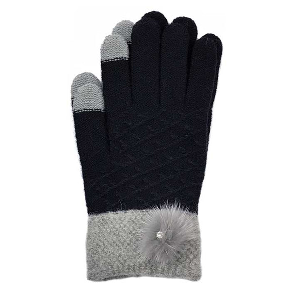 Lovely Touchscreen Knitted Gloves, Clothing - www.thestoneflower.com