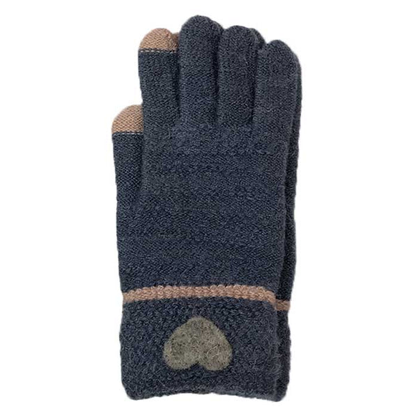 Heart Touchscreen Knitted Gloves