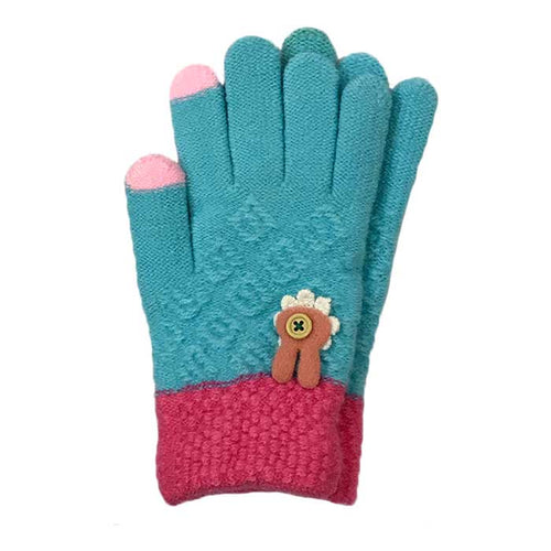 Bunny Touchscreen Knitted Gloves, Winter Wear - www.thestoneflower.com