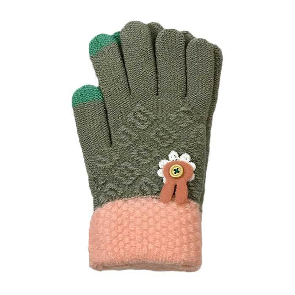 Bunny Touchscreen Knitted Gloves