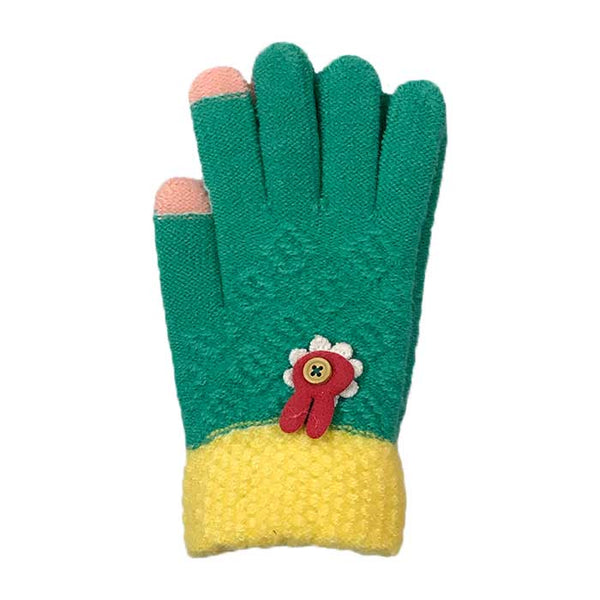 Bunny Touchscreen Knitted Gloves, Clothing - www.thestoneflower.com