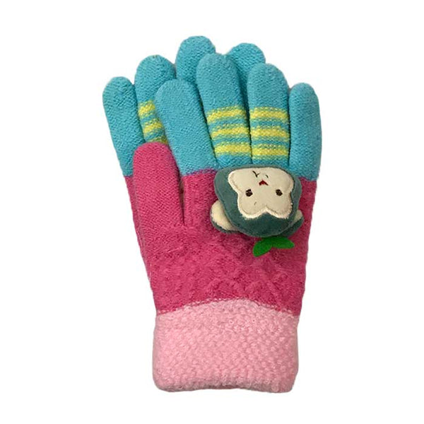 Cute Monkey Knitted Gloves, Winter Wear - www.thestoneflower.com