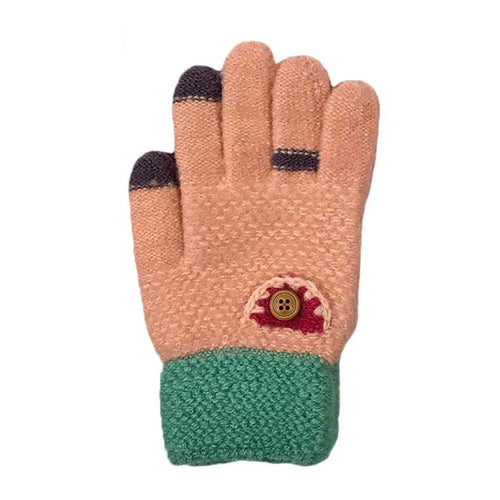 Simple Touchscreen Knitted Gloves