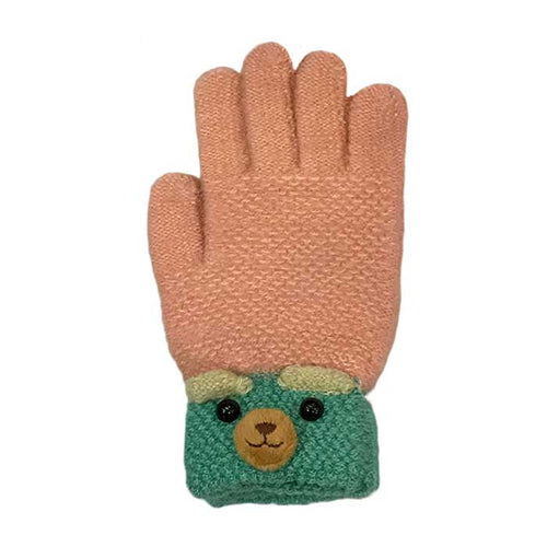 Cute Bear Knitted Gloves