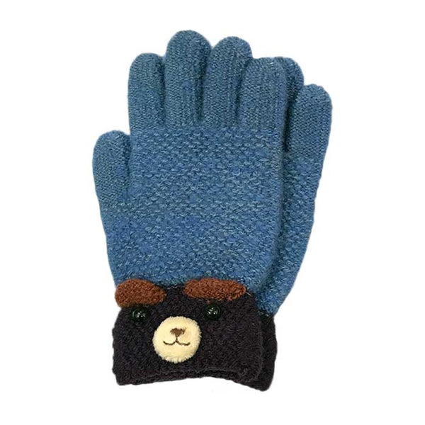Cute Bear Knitted Gloves, Clothing - www.thestoneflower.com