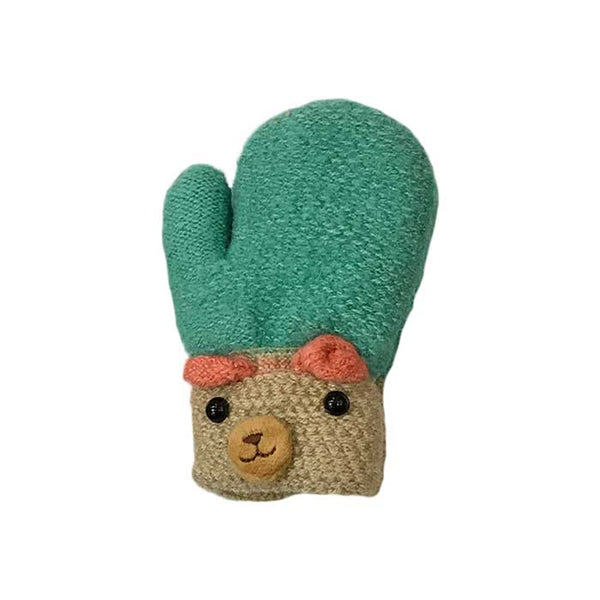 Cute Bear Children Knitted Mittens, Clothing - www.thestoneflower.com