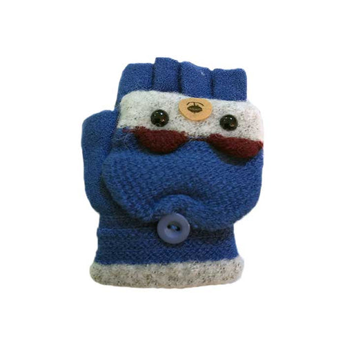Cute Bear Flip Top Knitted Gloves, Clothing - www.thestoneflower.com
