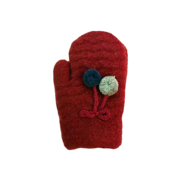 Children Knitted Wool Mittens, Clothing - www.thestoneflower.com