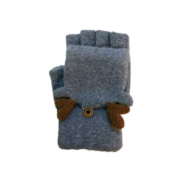 Cute Deer Flip Top Knitted Gloves, Clothing - www.thestoneflower.com