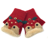 Reindeer Children Knitted Mittens, Clothing - www.thestoneflower.com