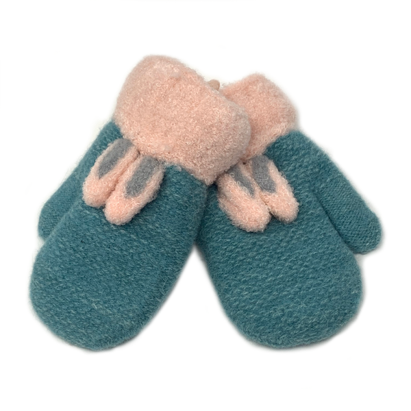 Bunny Ears Children Knitted Mittens, Clothing - www.thestoneflower.com