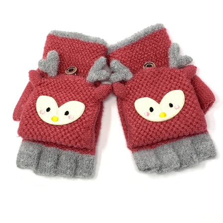 Foxy Children Knitted Wool Mittens