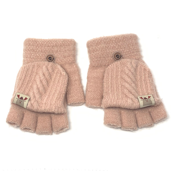 Cute Flip Top Knitted Gloves, Clothing - www.thestoneflower.com