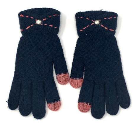 Cute Deer Flip Top Knitted Gloves
