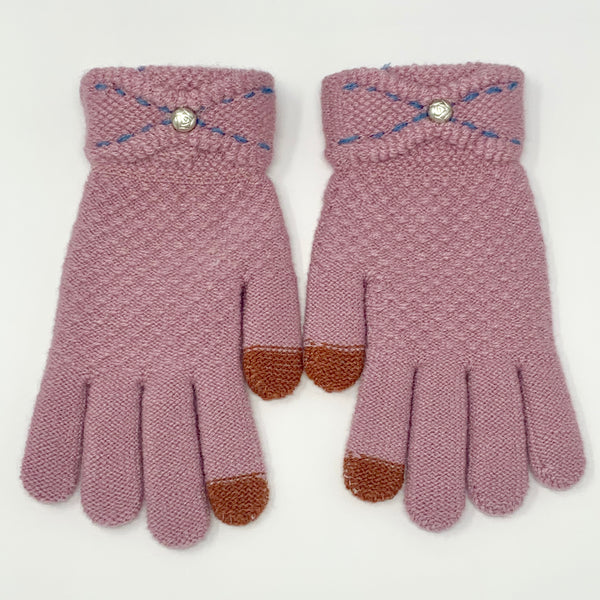 Stone Rose Touchscreen Knitted Gloves, Clothing - www.thestoneflower.com