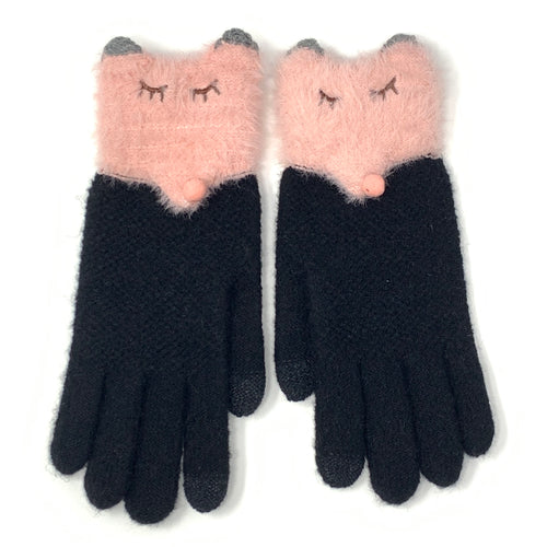 Lovely Foxy Touchscreen Knitted Gloves, Clothing - www.thestoneflower.com