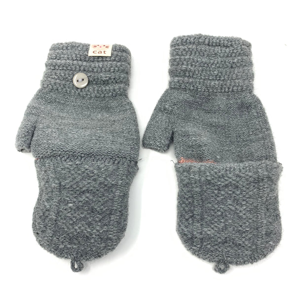 Cozy Cute Flip Top Knitted Gloves, Clothing - www.thestoneflower.com