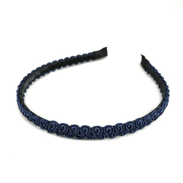 Navy Blue Braids Headband, Hair Accessories - www.thestoneflower.com