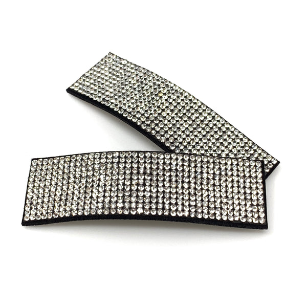 White Rhinestone Snap Clip, Hair Accessories - www.thestoneflower.com