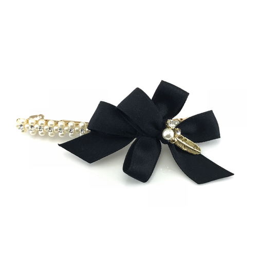 Double Bows Hair Barrette, Hair Accessories - www.thestoneflower.com