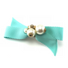 Cute Turquoise Bow & Pearls Hair Clip, Hair Accessories - www.thestoneflower.com