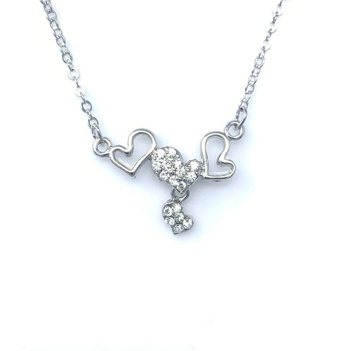Triple Hearts Pendant Necklace