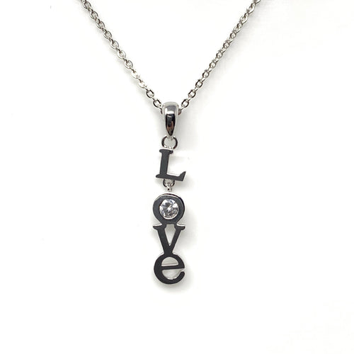 LOVE Word Pendant Necklace, Necklaces - www.thestoneflower.com