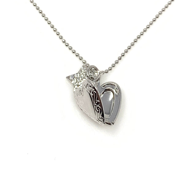 Heart Locket Pendant Necklace, Necklaces - www.thestoneflower.com