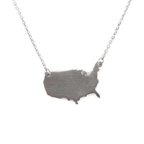 USA Charm Necklace, Necklaces - www.thestoneflower.com