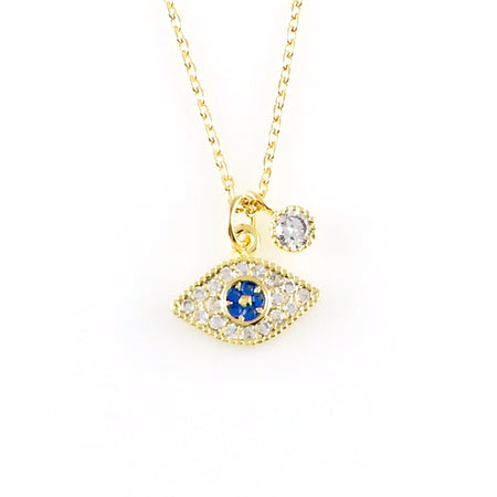 Crystal Hamsa Charm Necklace