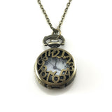 Retro Pocket Watch Pendant Necklace, Necklaces - www.thestoneflower.com