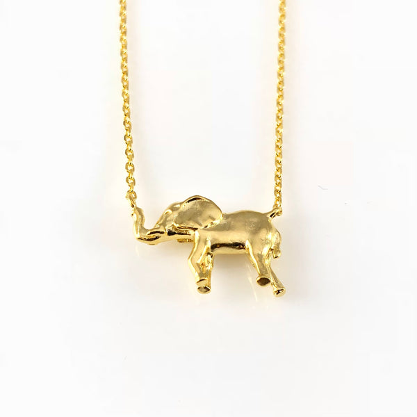 Dancing Elephant Charm Necklace, Necklaces - www.thestoneflower.com