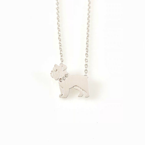 Pixel Dog Charm Necklace, Necklaces - www.thestoneflower.com